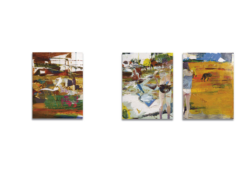 Attempt to escape 2013 acrylic on canvas 23 x 29 cm ( triptych)