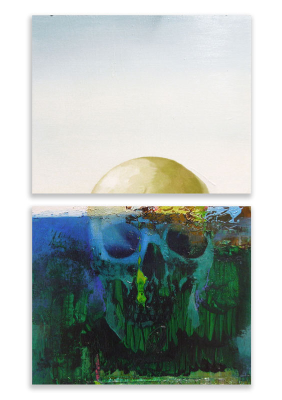 Island at the and of the world 2013, open acrylic on board 30x40 cm (each)