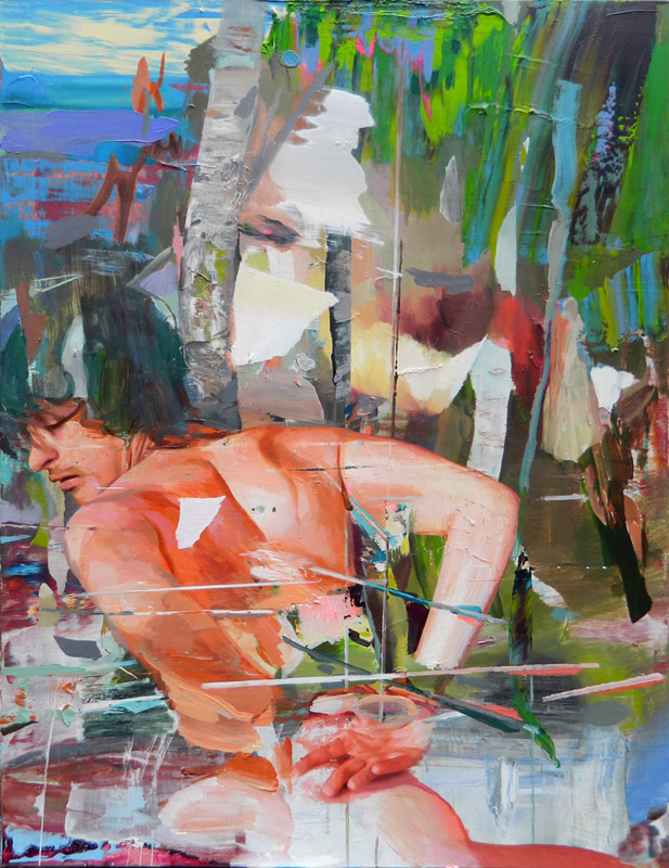 St. Sebastian, 2013 Acrylic on canvas 170 x 130 cm