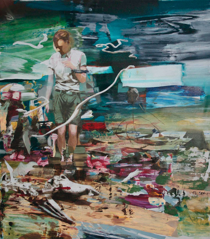 You can not get there from here 2011 acrylic on canvas 166 x 140 cm
